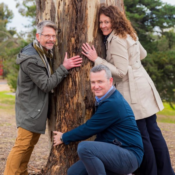 "John Willis, Andy Sloane and Rohan Hogan, part of the team bringing ""Connecting"" together for the Greater Bendigo Curriculum for Change"
